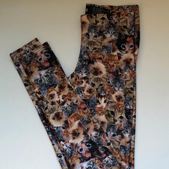 fd75ea9127277 Blackmilk Pants - crazy cat lady leggings - blackmilk clothing